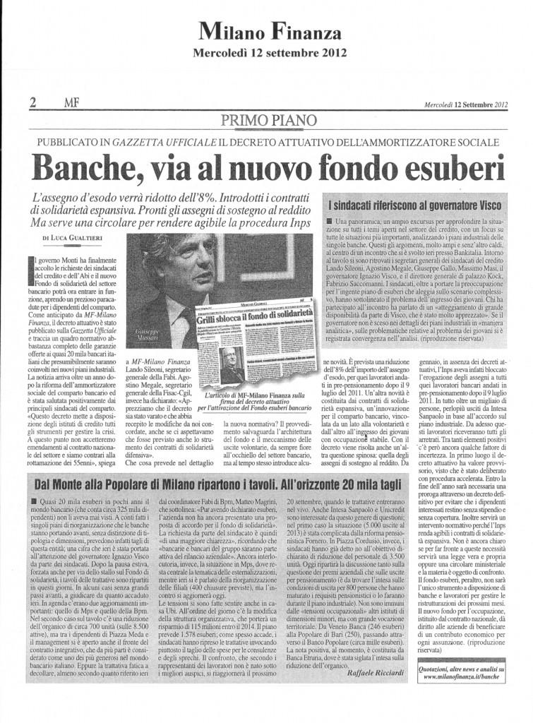 BANCA D'ITALIA INCONTRA I SINDACATI - FOCUS SULLA SITUAZIONE DEL SETTORE