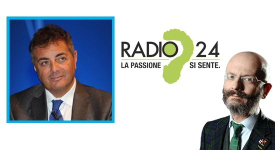 OSCAR GIANNINO A RADIO 24 INTERVISTA LANDO MARIA SILEONI