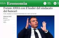FORUM ANSA CON IL LEADER DEL SINDACATO DEI BANCARI