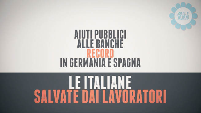 LE BANCHE ITALIANE SALVATE DAI LAVORATORI