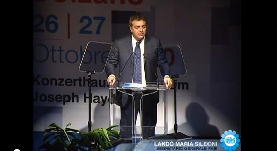 Lando Maria Sileoni acclamato al CXVI Consiglio Nazionale FABI