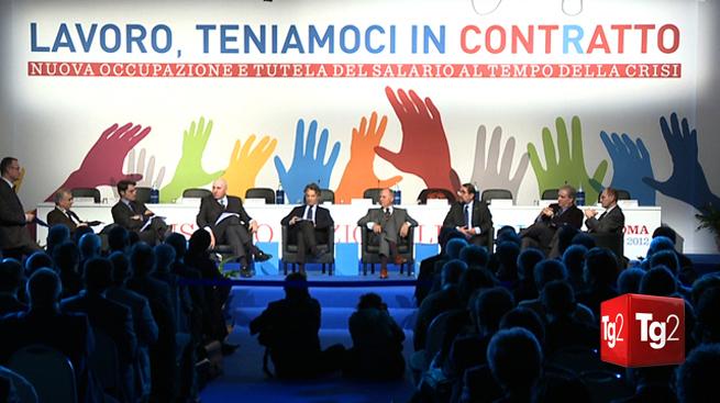 """""""LAVORO, TENIAMOCI IN CONTRATTO"""" - Il servizio del Tg2 trasmesso in prima serata martedì 6 marzo."""