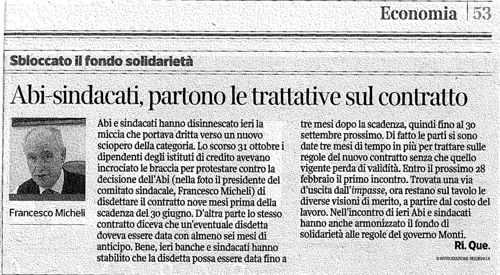 Corriere della Sera, 21 dic. 2013