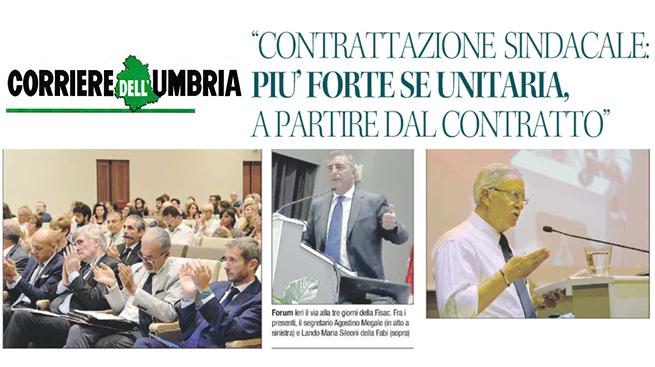 FORUM FISAC, L'INTERVENTO DI SILEONI SULLA STAMPA