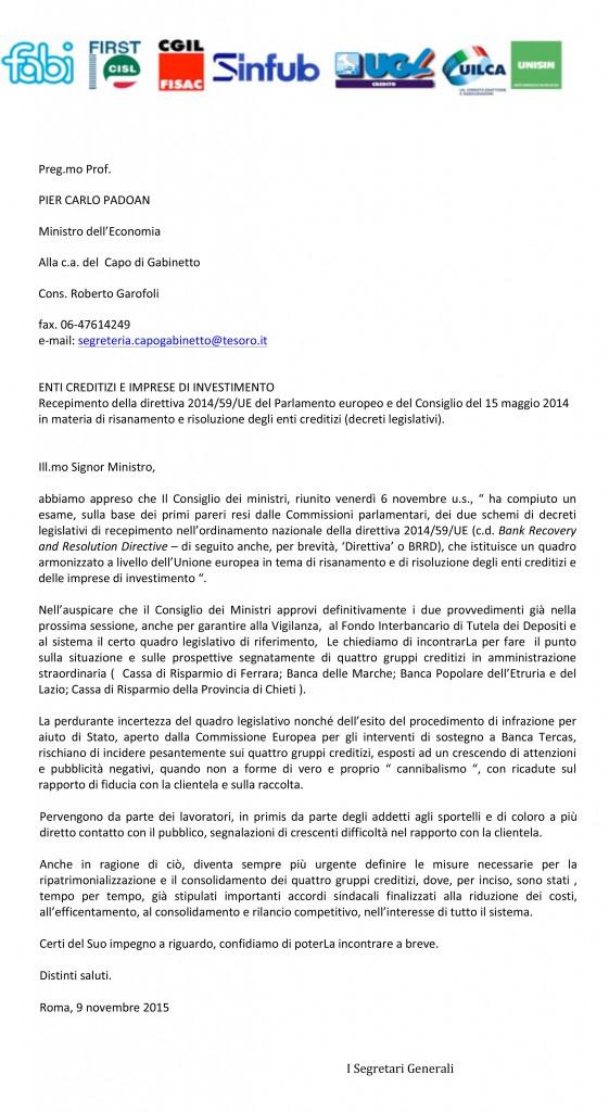Microsoft Word - lettera Padoan.doc