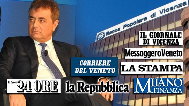 """POPOLARE VICENZA, SILEONI: """"IL VOTO CONTRO SPA METTE A RISCHIO BANCA"""""""