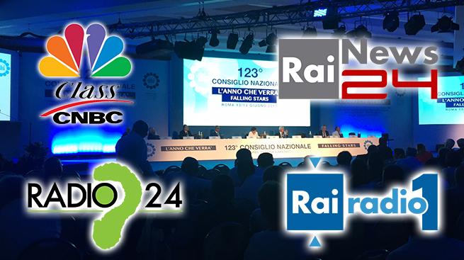 IL 123° CONSIGLIO NAZIONALE FABI SU RADIO E TV