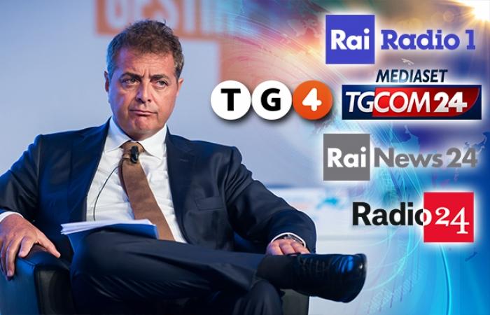 UNICREDIT: SILEONI SU RADIO RAI UNO, TG4, I CANALI ALL NEWS DI RAI E MEDIASET