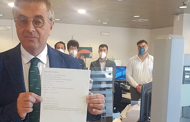 CORONAVIRUS: DAI DIRIGENTI SINDACALI FABI 250.000 EURO ALLA PROTEZIONE CIVILE